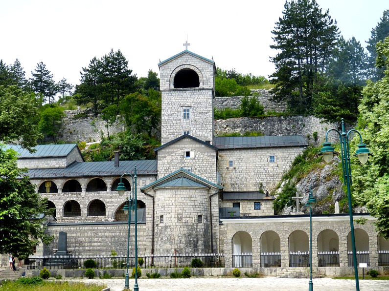 Medieval monastery built in stone