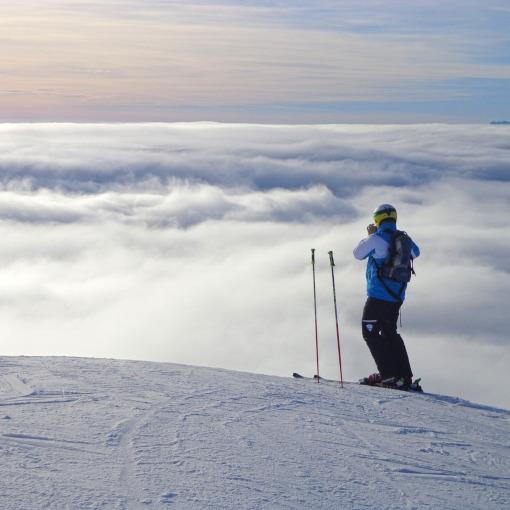 Man skiing on snow