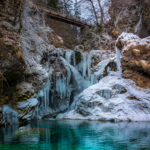 Una cascada congelada