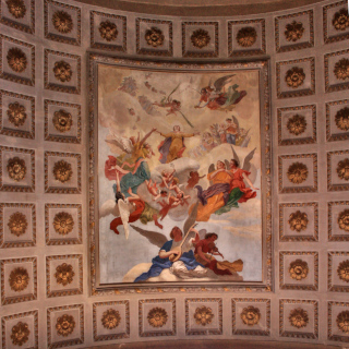 Painting of saints on the ceiling