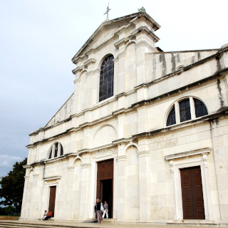 White facade of the church