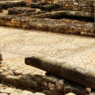 Geometric mosaic on the basilica's floor