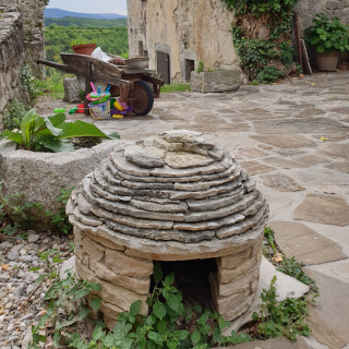 Replica of traditional Istrian house made of stone