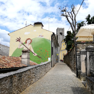 Painting on a wall