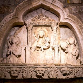 Stone sculptures of saints