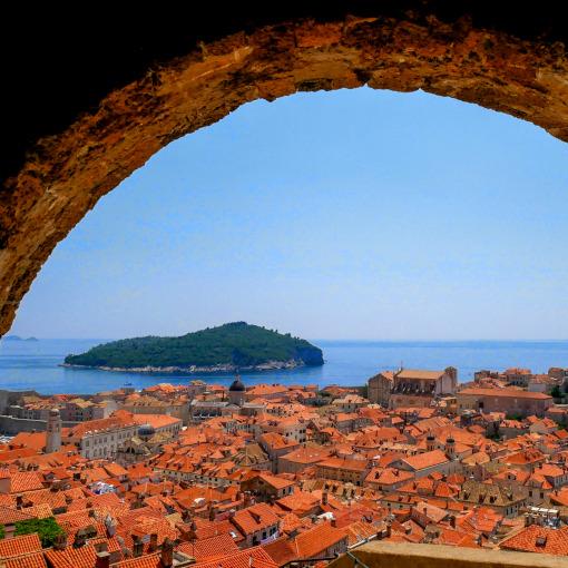 Vista aerea da cidade de Dubrovnik