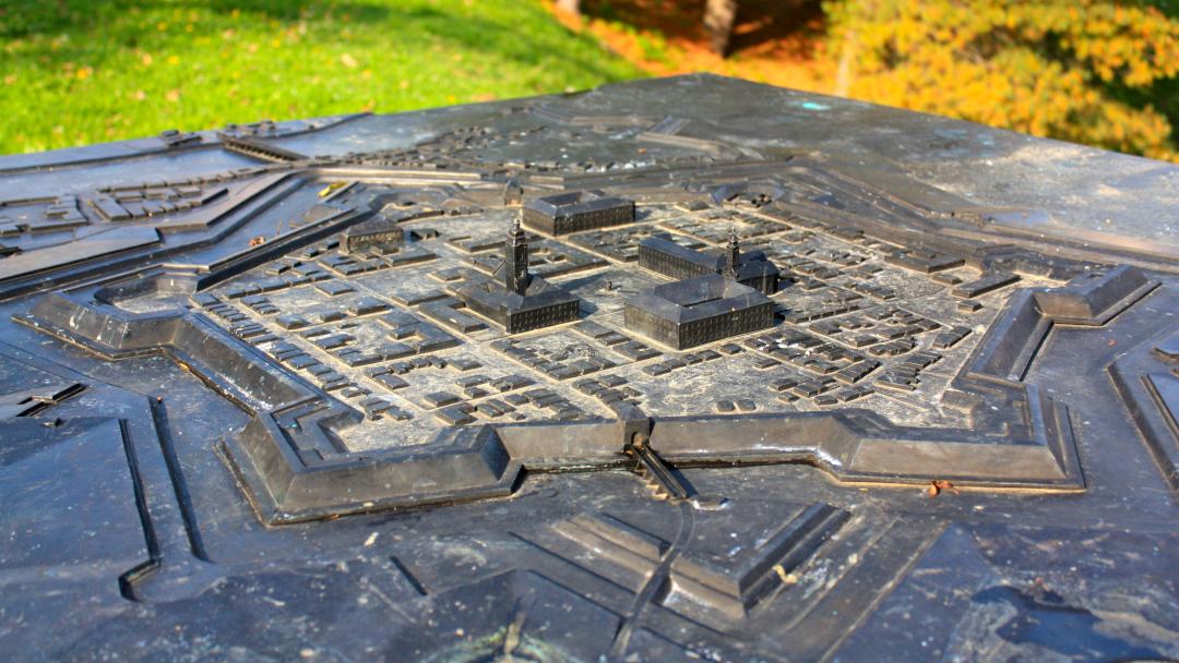 Model of the historic center of Karlovac